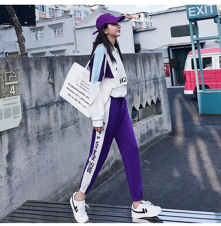 FINEWORDS Striped Jogger Harem Pants Long Leisure Pants Women Autumn Female Clothes Sweatpants Sportswear Trousers Plus Size 4