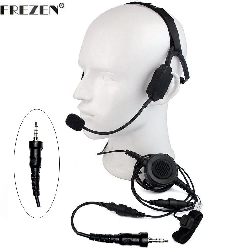 Walkie Talkie Military Bone Conduction Tactical Headset Boom Mic For Yaesu Vertex Radio VX-6 VX-6E VX-6R VX-7E VX-7R VX-120