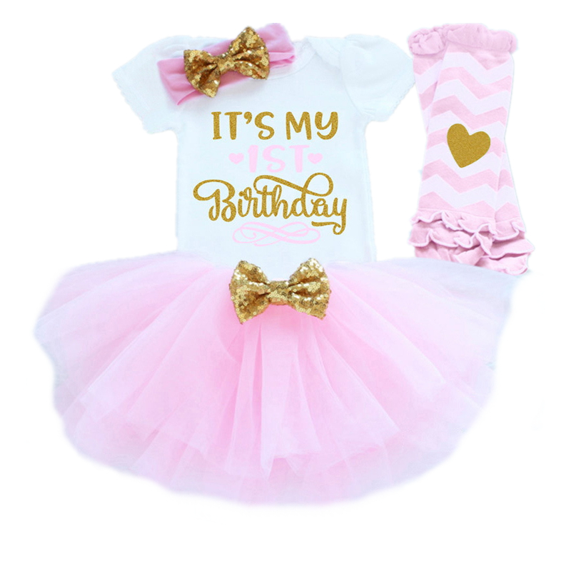 Baby Clothing Sets Baby Romper Skirt Headband Leggings Suits One 1 Birthday Outfits Infantil vestido de bebes Party Girl Clothes new baby girl clothing sets lace tutu romper dress jumpersuit headband 2pcs set bebes infant 1st birthday superman costumes 0 2t