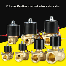 цена на Normally closed solenoid valve 1/4,3/8,1/2,3/4,AC220V,DC12V/24V Electric Solenoid Valve Pneumatic Valve for Water Oil Air NC