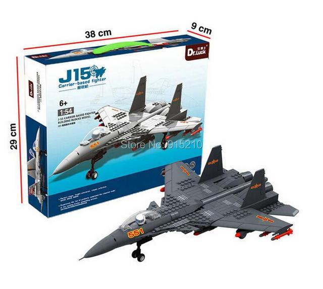 1:54 J15 CARRIER-BASED avión de combate del ejército BUILDING BROCKS modelo 281 unidades compatible, de los niños ladrillos Compatible bloquear juguetes