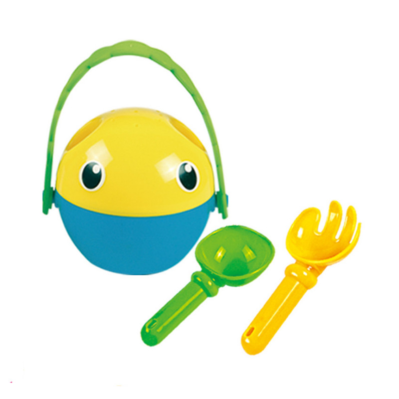 3 Pieces Kids Baby Sand And Snow Play Toy Beach Sand Toys Small Sand Bucket Mould Spoon Beach Play P10