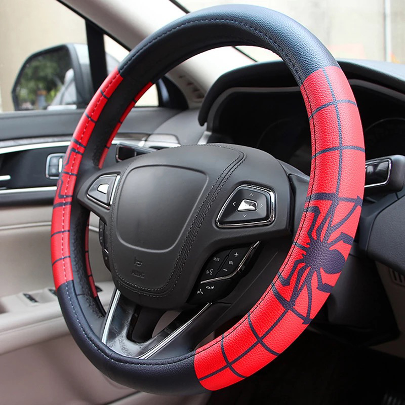 Image 2 - Marvel Cartoon Car Steering Wheel Covers Case Comfortable Anti Slip Auto Steering Wheel Cover Car Accessories-in Steering Covers from Automobiles & Motorcycles