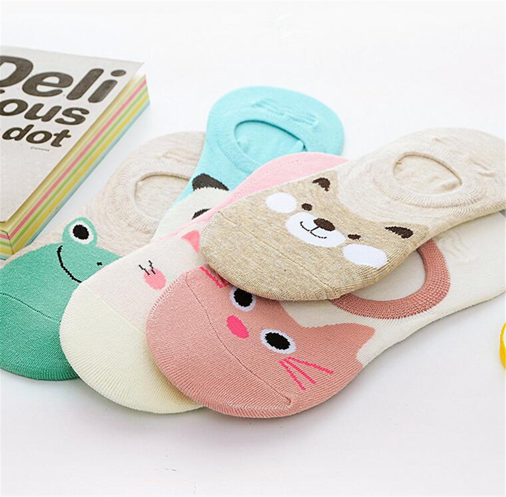 Free-Shipping-Women-Candy-Color-Sock-Small-Animal-Cartoon-Short-100-Cotton-Boat-Socks-Breathable-Casual (1)
