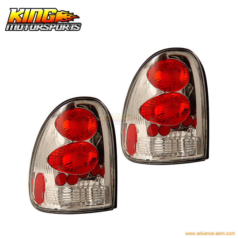 For <font><b>1996</b></font>-<font><b>2000</b></font> <font><b>Dodge</b></font> <font><b>Caravan</b></font> Tail Lights Chrome Lamps Pairs USA Domestic Free Shipping