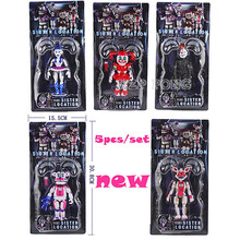 5 Pcs/set FNAF Five Nights Movable Joint Freddy's Figure Funtime Freddy Foxy Sister Location Horror Game Lightening Kids Toy