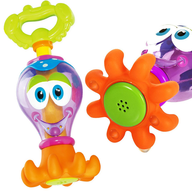 Baby Bath Toys  0-12 Months Plastic Cartoon Octopus Fun Pool Toy