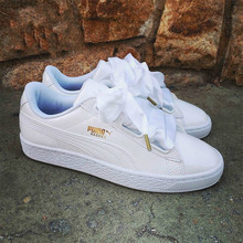 a78e16c3c3e New Arrival Original PUMA Basket Heart Patent Women s Sneakers Suede Satin  Skateboarding Shoe White Black
