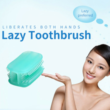 1pc Silicone Toothbrush Handfree Chewing All-round Cleaning Tooth brush Lazy People Easy To Use Mini Travel