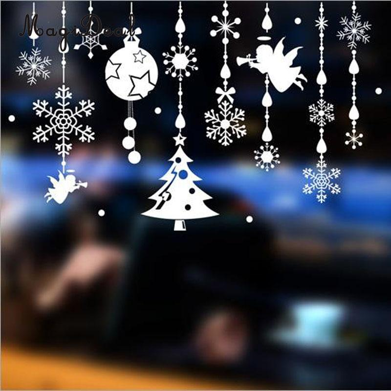 MagiDeal Reusable Christmas Jingle Bell Window Sticker Self Clings Decorations