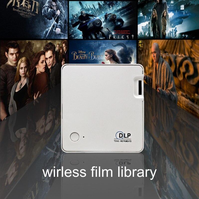 Excelvan MY302 DLP Pico projecteur Portable 1920*1080 P 20-120 pouces gamme de Projection Home cinéma Support multimédia EZcast Wifi