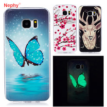 Nephy High Quality Phone Case For Samsung Galaxy S5 S6 S7 Edge S8Plus Duos 3D noctilucent back Cover Silicon TPU Casing Housing(China)