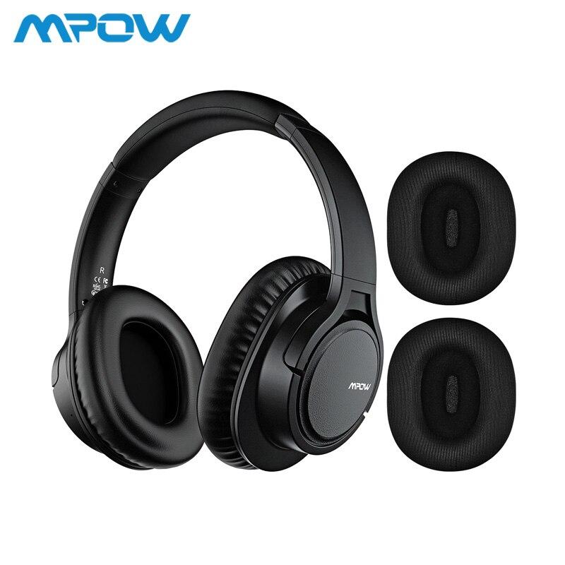 Mpow H7 Plus Sem Fio/Com Fio Fones De Ouvido Bluetooth 4.1 Fone de Ouvido de Alta Fidelidade de Som 2 Earmuffs Substituição Para iPhone Huawei Xiaomi Tablets