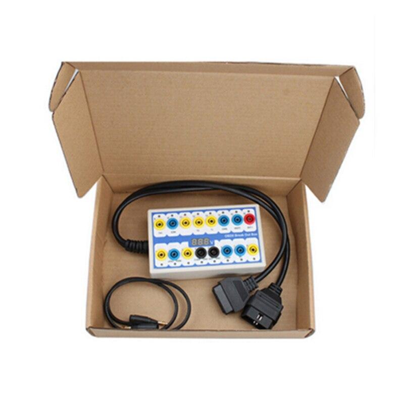 Free Shipping Professional OBD2 Breakout Box Car OBD OBDII Protocol Detector Break Out Box OBD2 Diagnostic Connector Detector