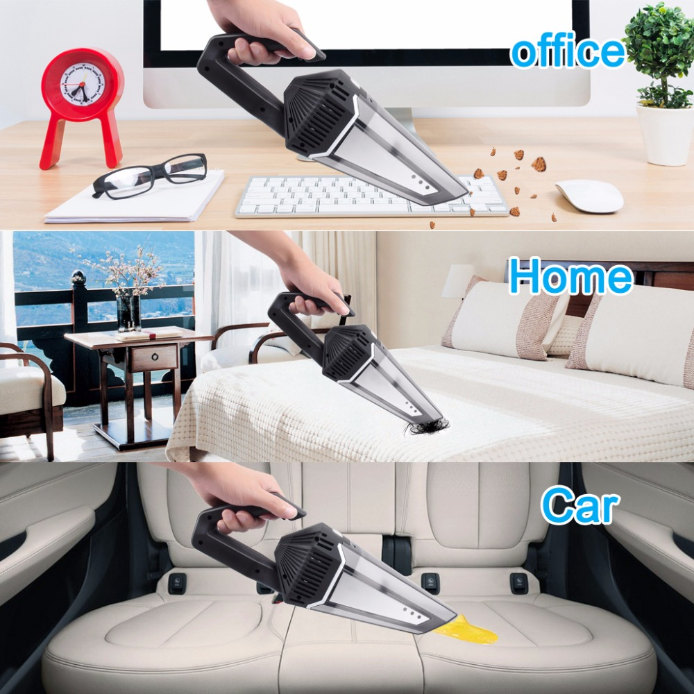 Cordless Car Vacuum Cleaner 4500PA Powerful Suction Aluminum Fan Blade WetDry Vacuum Cleaner Rechargeable And Portable With Carrying Bag For CarHome (8)