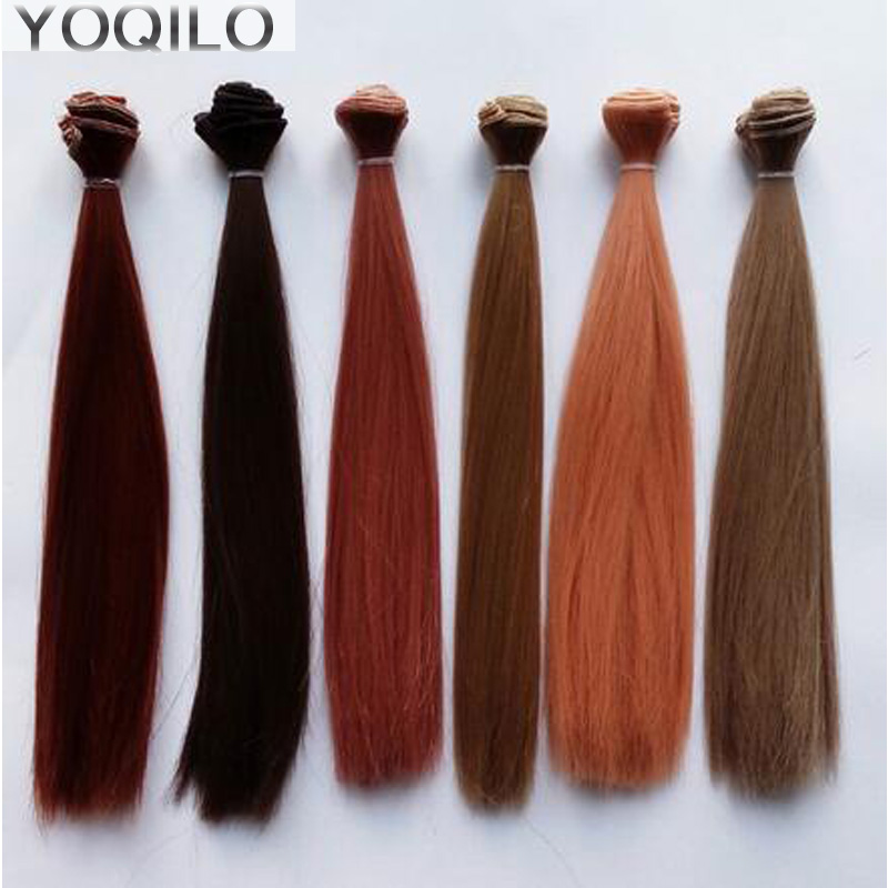 1PCS Retail Straight Doll Hair Natural Colors Brown/Blond DIY BJD Wig Hair 25CM