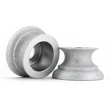 цена на 3 inch Brazing diamond grinding wheel of Dragon curve edge for quartz stone, marble, granite, ceramic, artificial stone GJ023