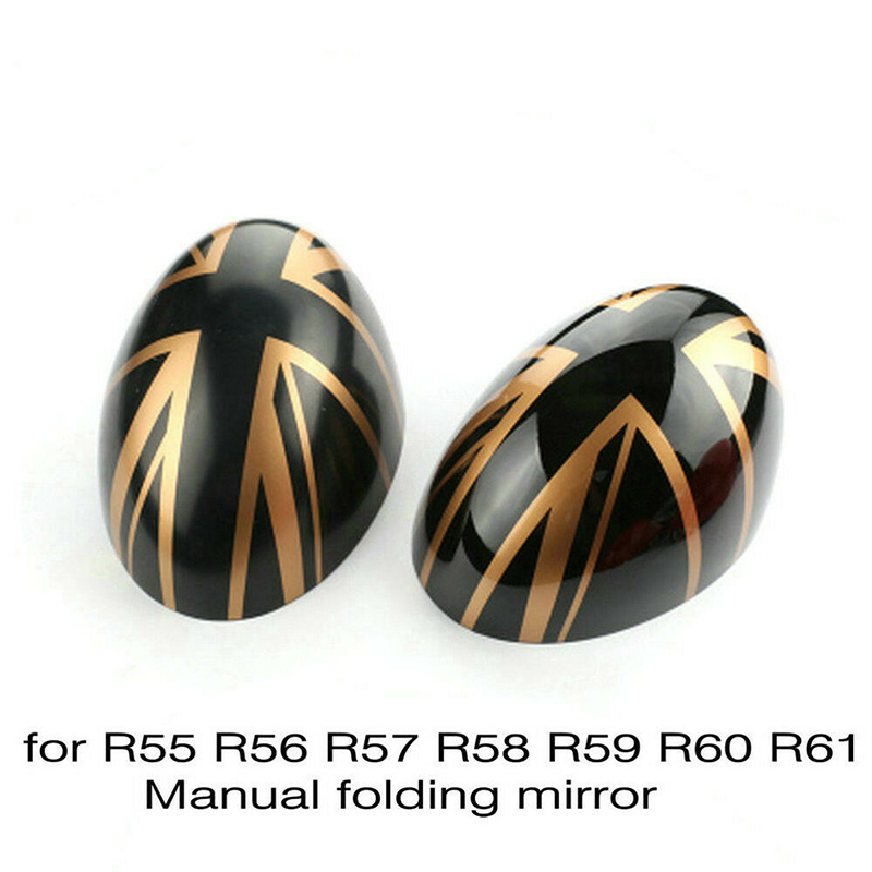 styling fashion Car Side 2pcs Rear Mirror Cover Trim Decor for MINI Cooper R55 R57 British Flag for auto replacement parts
