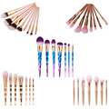 7 Estilo de Maquillaje Cepillos Conjunto Cosméticos Maquillaje brochas unicornio Cara Fundación Contorno de Labios Ojos maquillaje pincel kabuki