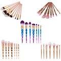 7 Style  Makeup Brushes Set Cosmetic Maquillaje brochas unicornio Face Foundation Contour Lips Eyes Make up pincel kabuki