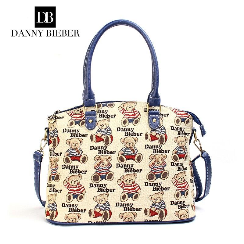 DANNY BIEBER 2016 New Women  Shoulder Bag Fashion  Ladies High-grade tapestry canvas messenger bags Сумка