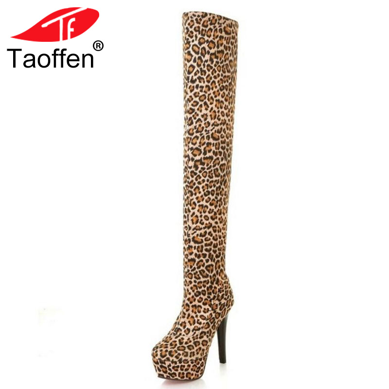 TAOFFEN Free shipping over knee half boots women fashion short winter footwear shoes snow warm long boot P7282 EUR size 33-39 free shipping over knee high heel boots women snow fashion winter warm footwear shoes boot p15646 eur size 30 49
