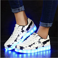 High quality chaussure a led 8 color LED Luminous Men Women casual shoes LED Shoes For Adults USB Charging Lights Shoes