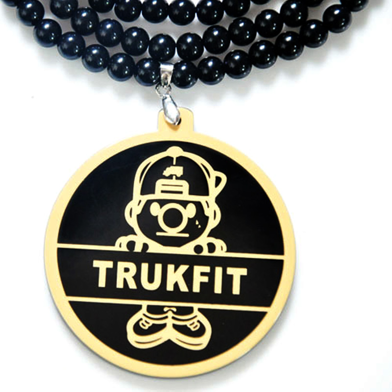 Fashion Brand Hip Hop Trukfit Boy Pendant Necklace Men Collier Long Bead Chain Male Necklace Jewelry Gift Collares Bijouterie