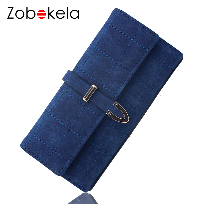 ZOBOKELA Women Wallet female Long clutches coin Purses Card Holder Organizer womens wallets and purses phone Money bag 2018 simple organizer wallet women long design thin purse female coin keeper card holder phone pocket money bag bolsas portefeuille
