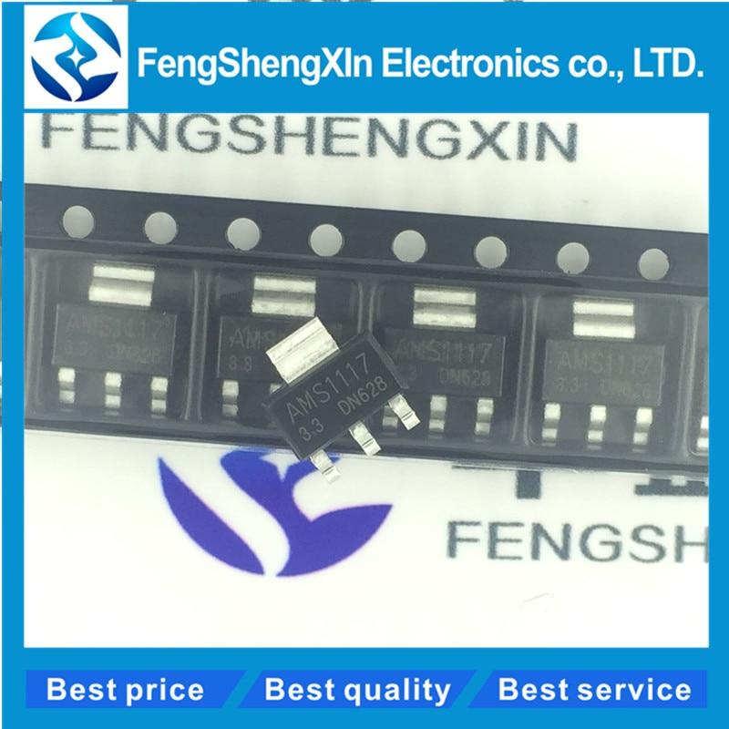50pcs lot New AMS1117 3 3 SOT 223 3 3V power supply voltage chip 1117 3