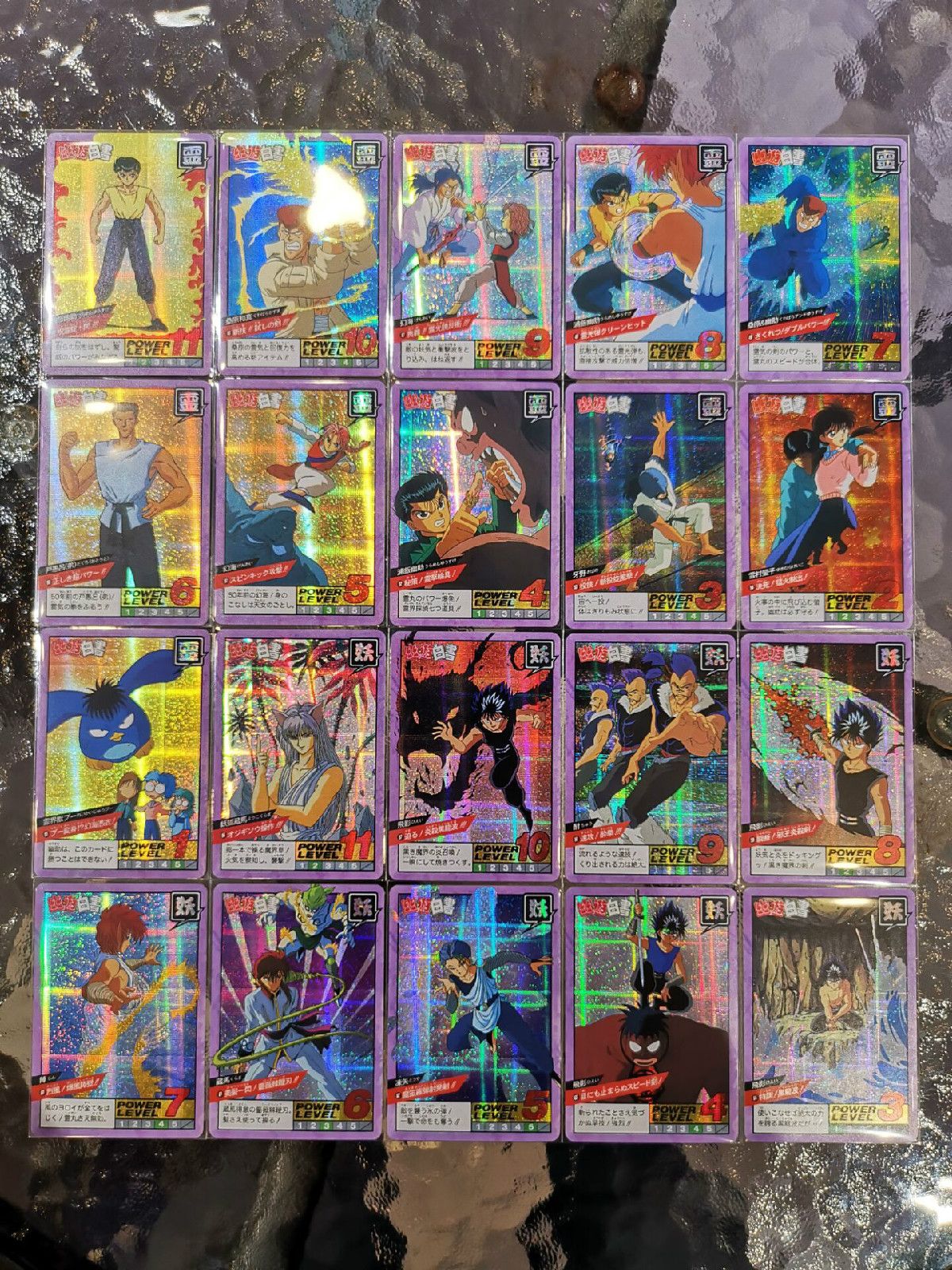 44pcs/set YuYu Hakusho Fighting Second Bomb Toys Hobbies Hobby Collectibles Game Collection Anime Cards