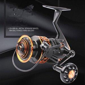 Image 2 - 2017 haute qualité Full Metal 4000 type 13 + 1BB pas de dégagement roue de pêche pêche en mer ligne de pêche wheel DD2