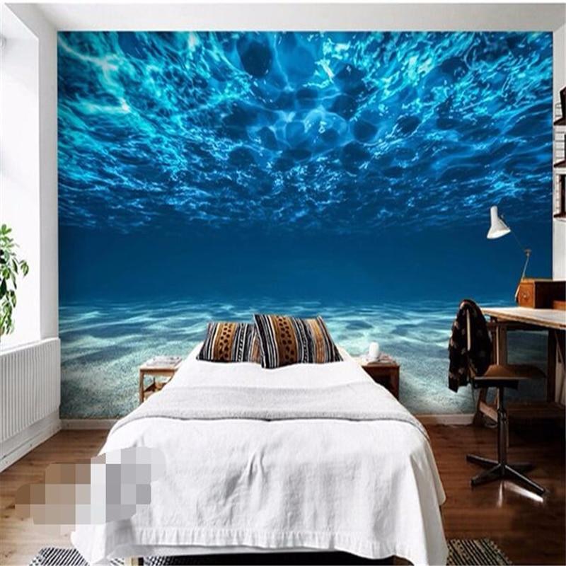 8 14 41 De Reduction Beibehang Mer Profonde Peinture Photo Papier Peint Ocean Paysage Grande Murale Chambre Enfants Chambre Fond Papier Peint Pour