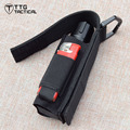 TTGTACTICAL Military Adjustable Flashlight Pouch with Battery Side Pockets Adjustable Flashlight Holder Pouch EMS Tool Pouch