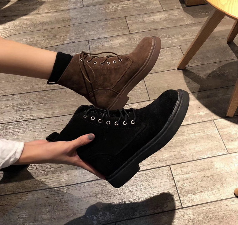 free transport style winter boots women 2019 fashion soft genuine leather women boots polished leather ankle boots Martin boots-에서미드 카프 부츠부터 신발 의  그룹 1