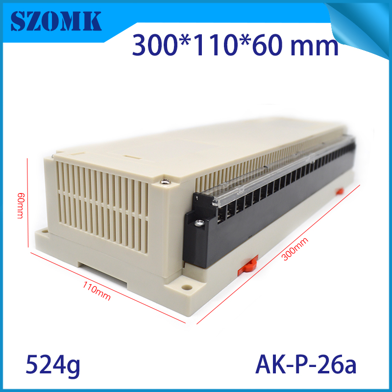 din rail terminal blocks plastic enclosure for diy pcb design 300x110x60mm din rail clip plastic case for wall mount szomk diydin rail terminal blocks plastic enclosure for diy pcb design 300x110x60mm din rail clip plastic case for wall mount szomk diy