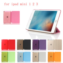 New Tablet Case For ipad Mini 1 2 3  PU Ultra Slim Magnet Sleep wake up Smart Cover Shell For A1432`A1454`A1489`A1491`A1599 case for new ipad 9 7 2017 2018 6th for air 1 sleep wake up magnet smart case ultra slim original 1 1 tablet leather ycjoyzw