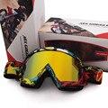 Tinted Vidro FOX Motocross Óculos De Proteção Máscara de Esqui Cross Country ATV Motocross Capacete Da Motocicleta MX Goggle Glasses Oculos Gafas