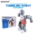 Tumbling robótica robot toy asamblea 3-mode kit diy eléctrica creativo juguete educativo para los niños embroma el regalo
