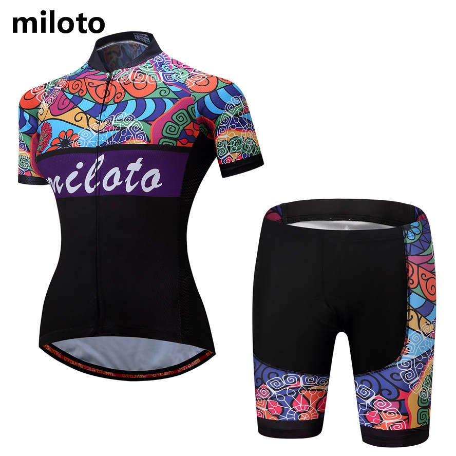 Womens Ciclismo Clothing Retro Cycling Jerseys and Shorts Padded GEL Bike Bicycle Sportswear Summer 2017 New Reflective MTB