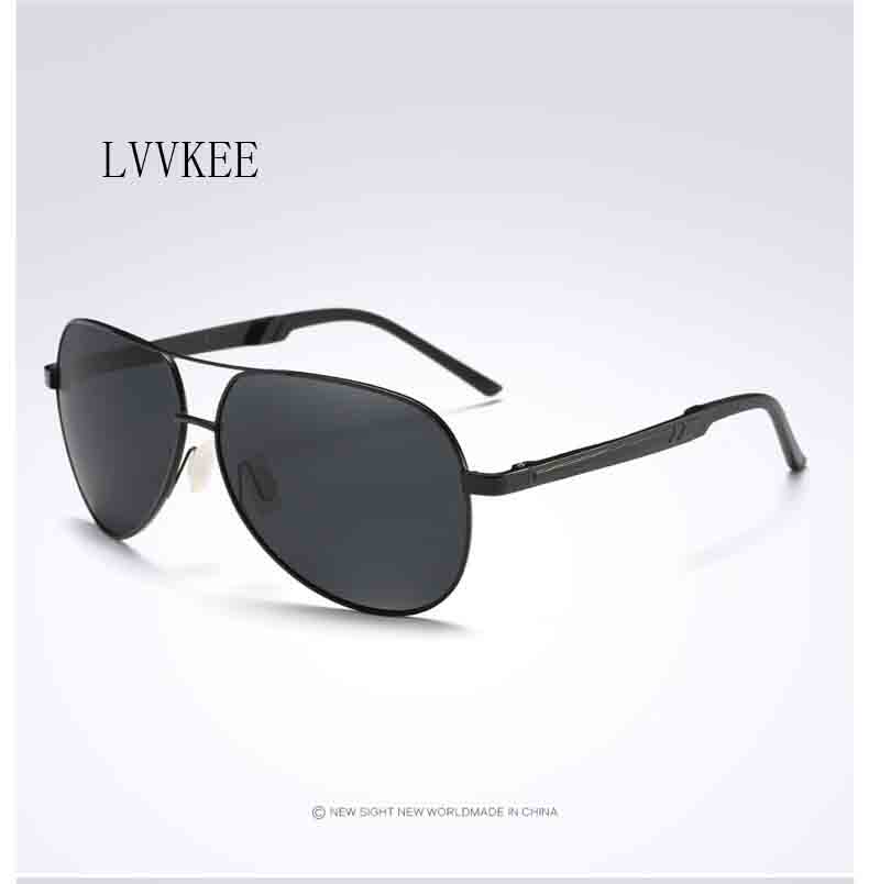 LVVKEE 2017 new pilots sunglasses polarized sunglasses mens sunglasses Men Aluminum Magn ...