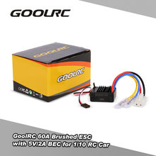 GoolRC 60A Geborsteld ESC Electric Speed Controller met 5 V/2A BEC voor 1/10 4WD RC Auto Buggy(China)