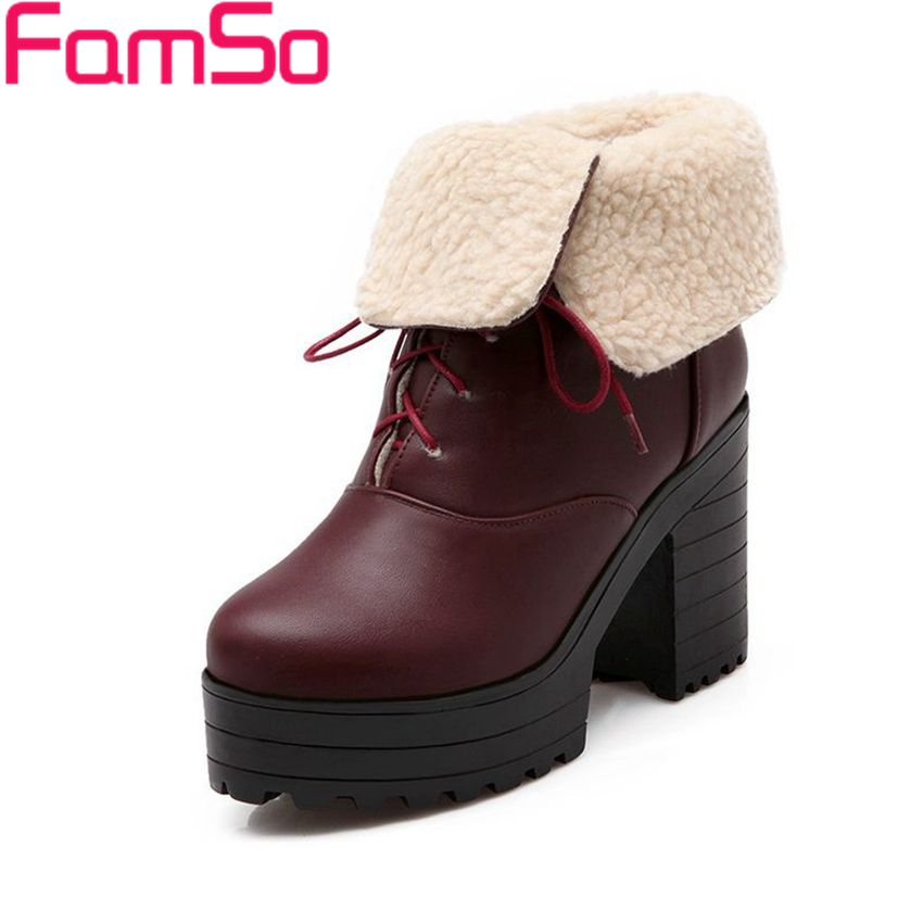Free shipping 2016 new Sexy font b Women b font Autumn high Heels Ankle Boots black