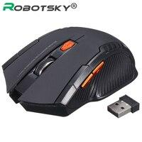 Robotsky usb sem fio gaming mouse 2.4 ghz sem fio óptico mouse gamer ratos para notebook desktop portátil