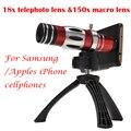 2017 18x teleobjetivo lentes 150x telescopio zoom macro para samsung galaxy s3 s4 s5 s6 s7 edge plus casos teléfono de la cámara lentes
