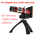 2017 lentes de telefoto 18x telescópio 150x zoom lente macro para samsung galaxy s3 s4 s5 s6 s7 edge plus casos câmera do telefone lentes