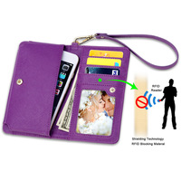 SHANSHUI PU Leather Wallet Credit Card Holder Mobilephone Case With Photo Travel Window Note Holder Coin