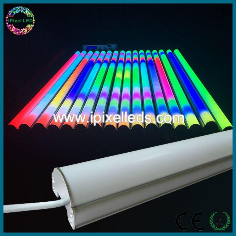 Led dmx rgb Метеор трубки света открытый led light tube Magic вертикальные трубки