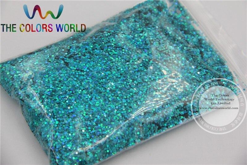 Tca701 голографический свет голубой цвет шестиугольник Форма 1 мм Размеры блеск дождевания Блёстки для нейл-арта и другие DIY аксессуары