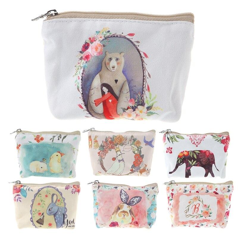 Cute Women Girls Small Handbag Zip Coin Bag Case Holder Purse Wallet Gift